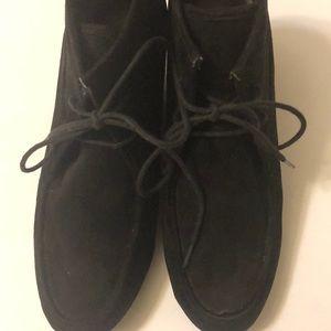 Dolce Vita Black suede wedge heel booties 7.5
